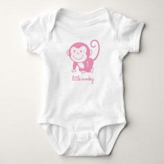 pequeño mono rosado camisas