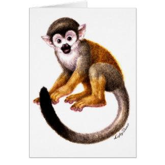 Pequeño mono tarjeta de felicitación