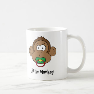 Pequeño mono tazas de café
