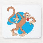 pequeño mono torpe alfombrillas de ratones