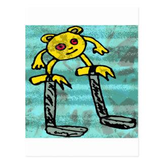 Pequeño monstruo #2 de los robos tarjeta postal