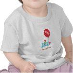 Pequeño monstruo azul lindo, para los bebés camisetas