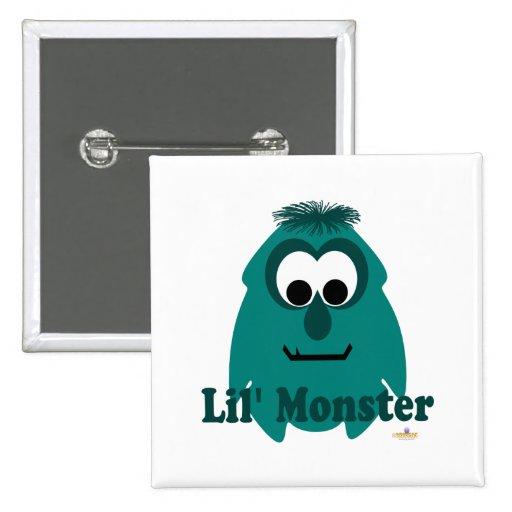 Pequeño monstruo de Lil de la paz del verde del mo Pin