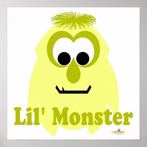 Pequeño monstruo de Lil Limone Lil del monstruo Posters