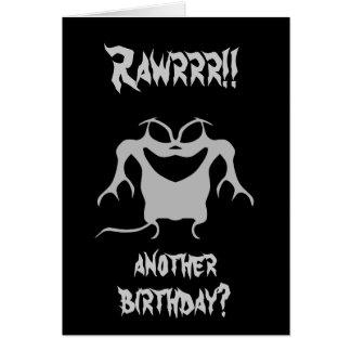 ¡Pequeño monstruo enrrollado, Rawrrr!! ¿, otro Tarjeta De Felicitación