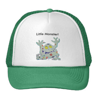 Pequeño monstruo lindo gorra