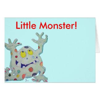 Pequeño monstruo lindo tarjeta