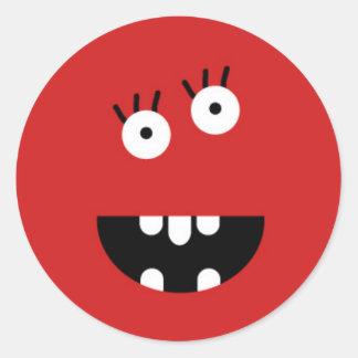 Pequeño monstruo pegatinas redondas