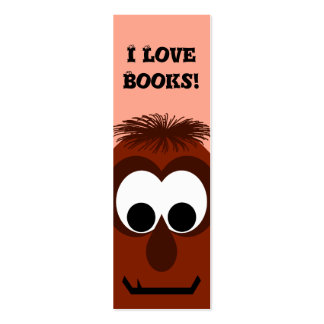 Pequeño monstruo rojo oscuro tonto tarjetas de visita mini