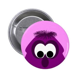 Pequeño monstruo rosado oscuro tonto pin