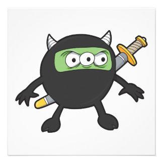pequeño monstruo tonto del ninja anuncio