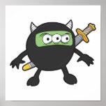 pequeño monstruo tonto del ninja impresiones