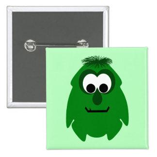 Pequeño monstruo verde oscuro tonto pin
