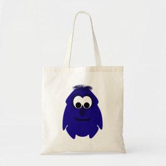 Pequeño monstruo violeta azul marino tonto bolsa