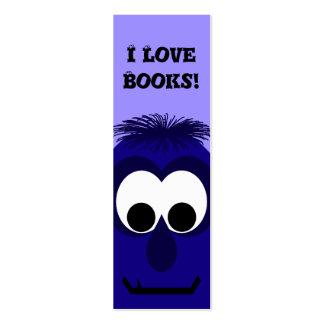 Pequeño monstruo violeta azul marino tonto tarjetas de visita mini