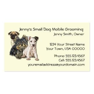 Pequeño móvil del perro que prepara el negocio C d Tarjeta Personal