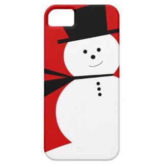 Pequeño muñeco de nieve divertido con el sombrero funda para iPhone SE/5/5s
