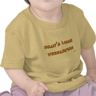 Pequeño naranja vegetariano de la correa eslabonad camisetas