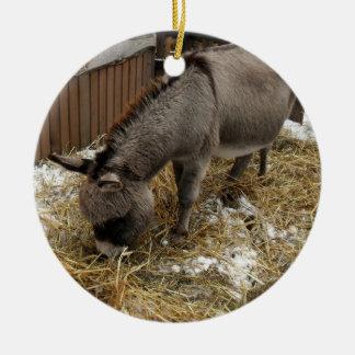 Pequeño navidad del burro ornamento para arbol de navidad