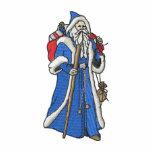 Pequeño navidad del padre sudadera bordada con capucha