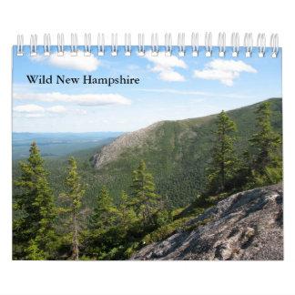 Pequeño New Hampshire calendario de pared salvaje