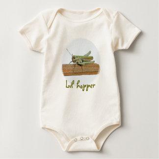 Pequeño niño verde del niño del dibujo animado del traje de bebé