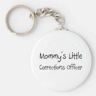Pequeño oficial de correcciones de Mommys Llavero Redondo Tipo Pin