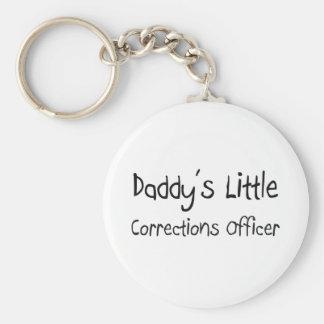 Pequeño oficial de las correcciones del papá llavero redondo tipo pin