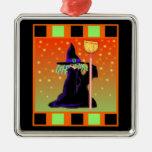 Pequeño ornamento de Halloween de la bruja Adorno De Navidad
