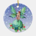 Pequeño ornamento de la hada del navidad ornamentos de reyes