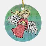 Pequeño ornamento del ángel del navidad ornamente de reyes
