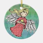 Pequeño ornamento del ángel del navidad ornamento de navidad