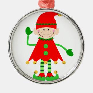Pequeño ornamento del ayudante de Santa Ornamentos De Navidad