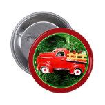 Pequeño ornamento rojo del camión de recogida del  pin