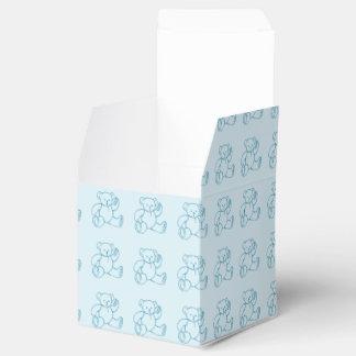 Pequeño oso de peluche azul relleno vintage lindo paquete de regalo