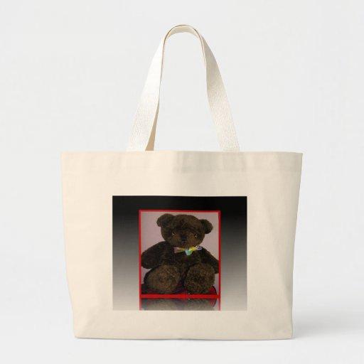 Pequeño oso de peluche de Brown Bolsa Tela Grande