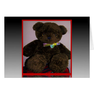 Pequeño oso de peluche de Brown Tarjeta De Felicitación