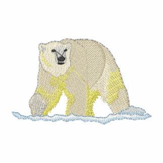 Pequeño oso polar camiseta polo bordada