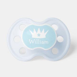 Pequeño pacificador de encargo de los azules chupetes para bebés