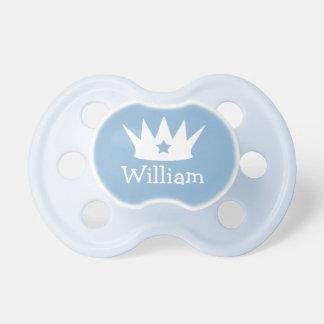 Pequeño pacificador de encargo del bebé azul del chupetes de bebe