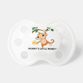 Pequeño pacificador del mono de la mamá chupetes de bebé