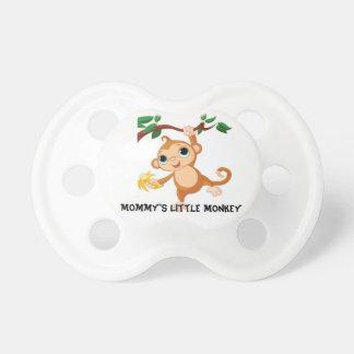 Pequeño pacificador del mono de la mamá chupete de bebe