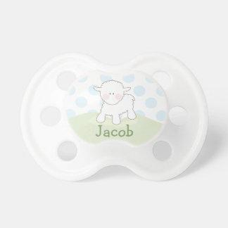 Pequeño pacificador personalizado el del cordero chupetes de bebe