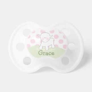 Pequeño pacificador personalizado el del cordero chupetes de bebé