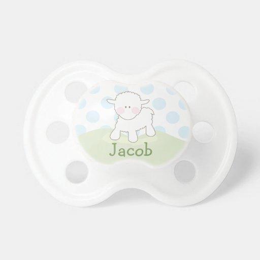 Pequeño pacificador personalizado el | del cordero chupetes de bebe