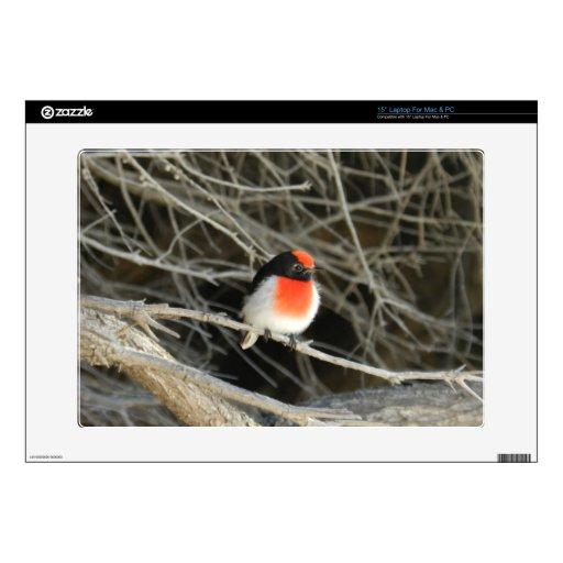 pequeño pájaro del redbreast del petirrojo que se  calcomanía para 38,1cm portátil