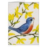 Pequeño pájaro dulce Notecard