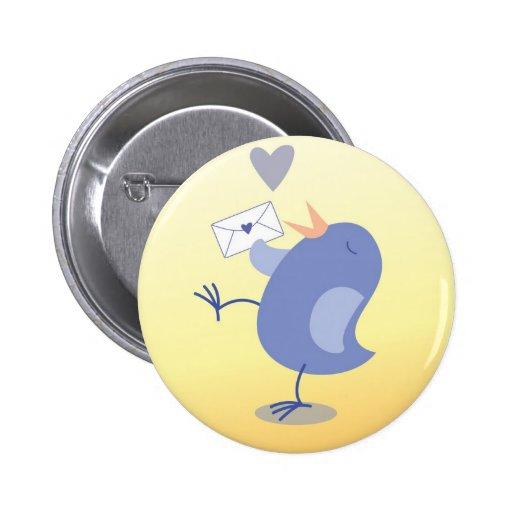 ¡Pequeño pájaro lindo del altavoz de agudos con un Pin Redondo 5 Cm