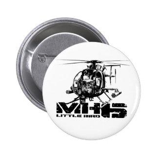 Pequeño pájaro MH-6 botón redondo de 2 pulgadas Pin Redondo De 2 Pulgadas