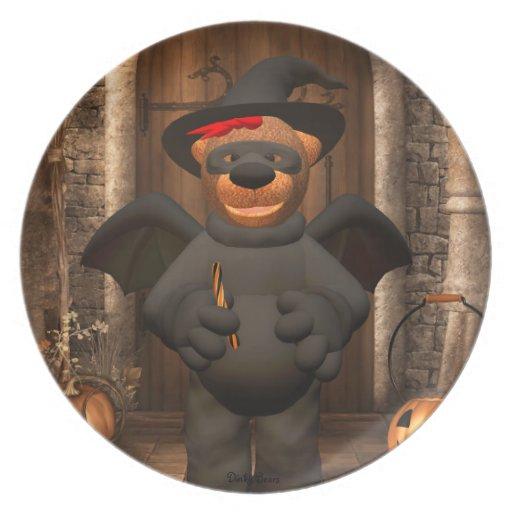 Pequeño palo de los osos pequeños plato para fiesta